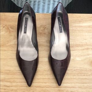 New Bandolino Burgundy Pointed-Toe Pump Size 11